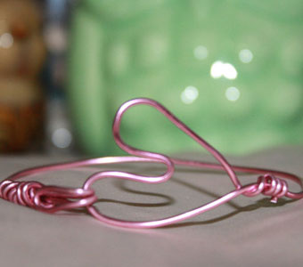 Pink Wire-Wrapped Bracelet
