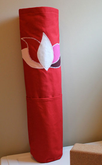 Red Lotus Yoga Mat Bag