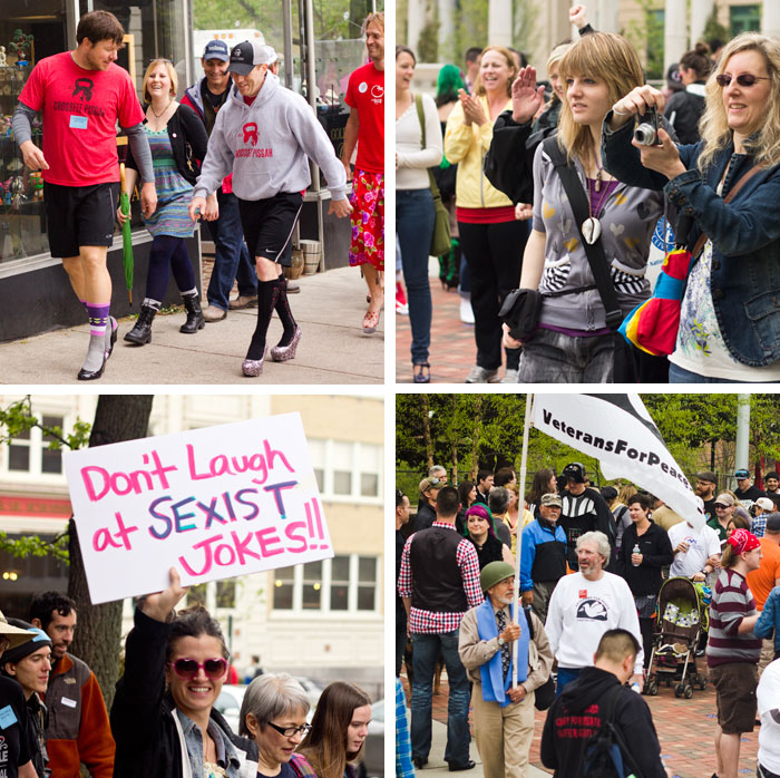 Asheville Supports Our Voice with Walk a Mile